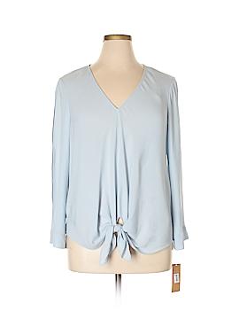RACHEL Rachel Roy Long Sleeve Blouse Size 0X (Plus)