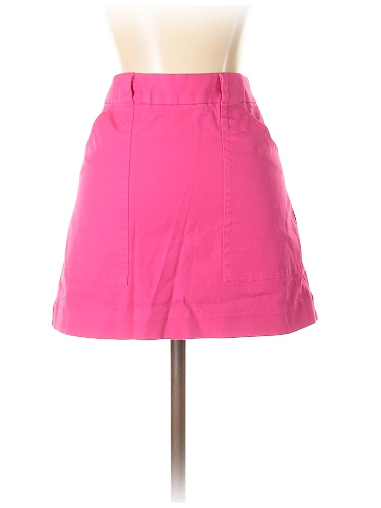 bd04610760 Kate Spade Saturday Solid Pink Denim Skirt Size 4 - 74% off | thredUP