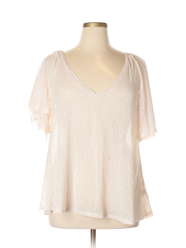 Studio Y Women Short Sleeve Top Size XL