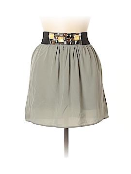 Aqua Silk Skirt Size M