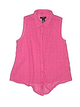 Gap Kids Sleeveless Button-Down Shirt Size X-Large (Youth)