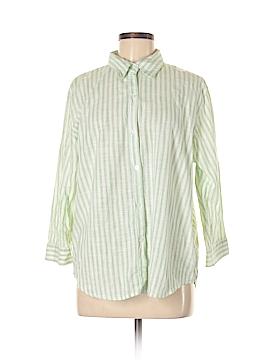 Northcrest 3/4 Sleeve Button-Down Shirt Size XL