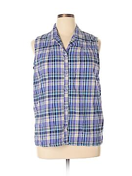 White Stag Sleeveless Button-Down Shirt Size 16