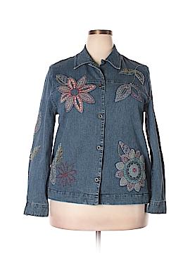 Alfred Dunner Denim Jacket Size 14