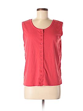 Carolyn Taylor Sleeveless Button-Down Shirt Size M