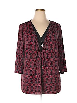 Fashion Bug 3/4 Sleeve Blouse Size 28 (Plus)