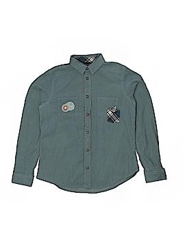 Sergent Major Long Sleeve Button-Down Shirt Size 12