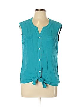 AB Studio Sleeveless Button-Down Shirt Size XL