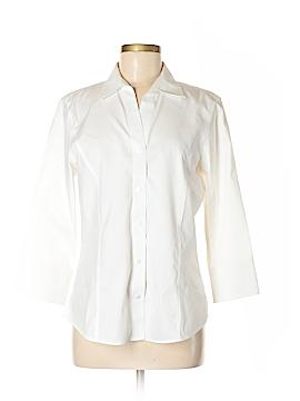 Foxcroft 3/4 Sleeve Button-Down Shirt Size 10