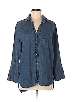 Cloth & Stone 3/4 Sleeve Button-Down Shirt Size M