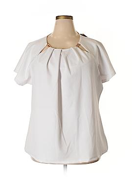 MICHAEL Michael Kors Short Sleeve Blouse Size 3X (Plus)