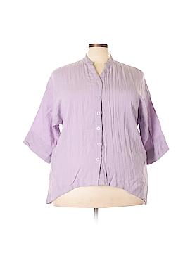 Citron Short Sleeve Blouse Size 3X (Plus)