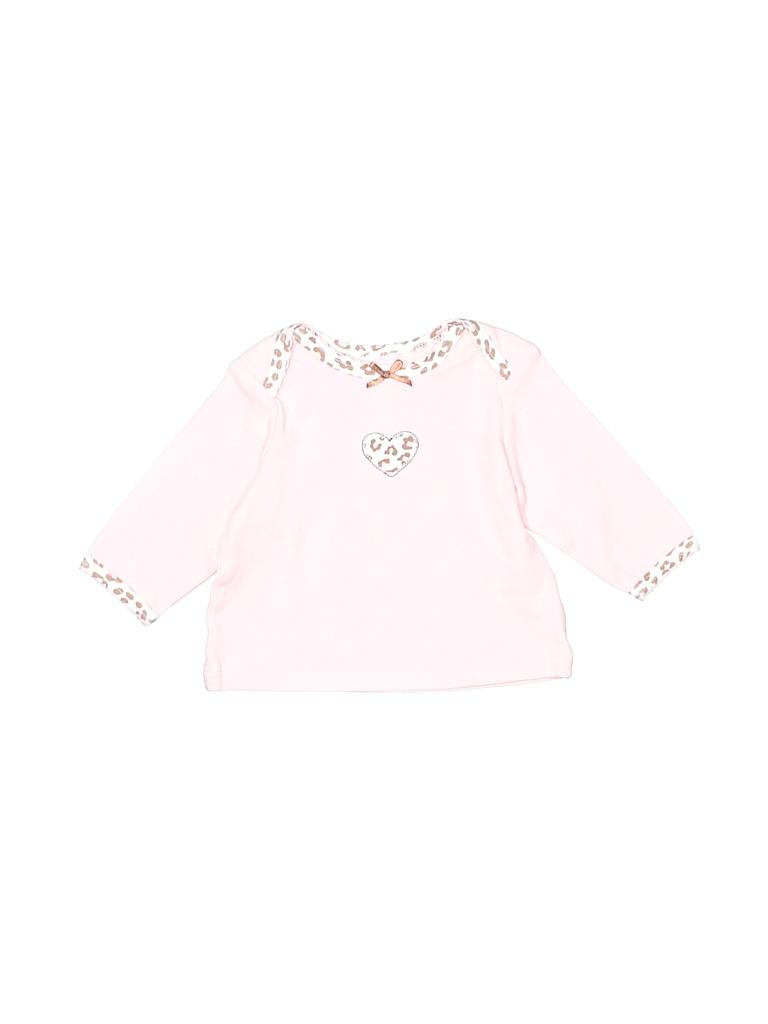 Little Me Girls 3/4 Sleeve T-Shirt Size 3 mo