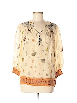 Floreat 3/4 Sleeve Silk Top Size 6