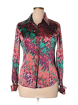 Etcetera Long Sleeve Silk Top Size 10