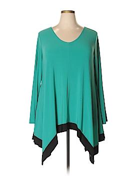 Denim 24/7 Long Sleeve Blouse Size 1X (Plus)
