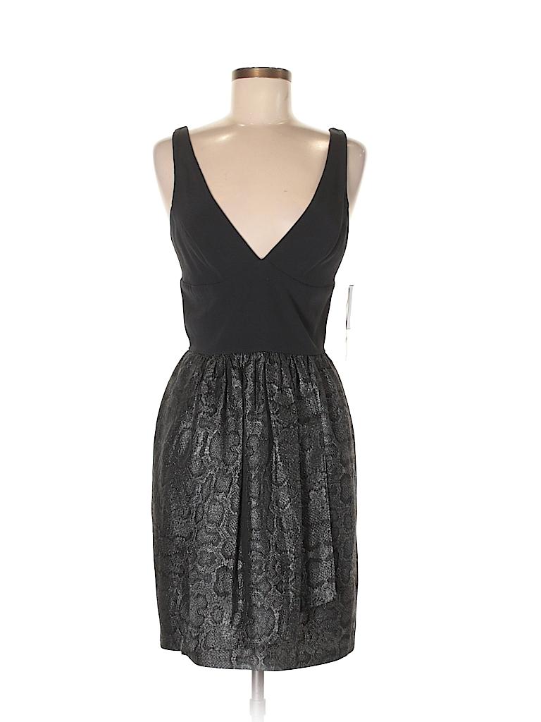 Bloomingdale S Animal Print Black Cocktail Dress Size M 79 Off