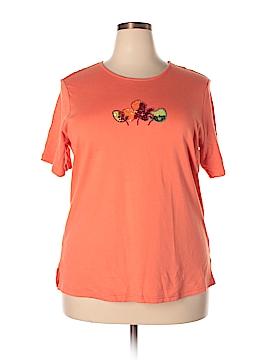 Quacker Factory Short Sleeve T-Shirt Size XL