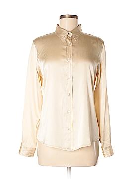 Gap Long Sleeve Silk Top Size M