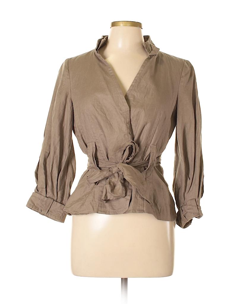 e4c26746d7 Zara 100% Linen Flax Solid Tan Blazer Size L - 65% off