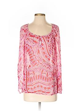 Trina Turk Long Sleeve Silk Top Size S