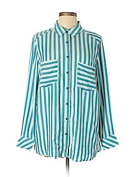 Melissa McCarthy Seven7 Long Sleeve Button-Down Shirt Size 0X (Plus)
