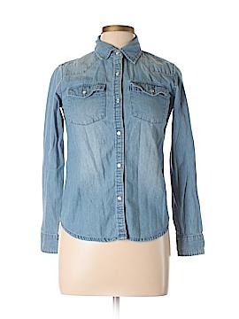 Garnet Hill Long Sleeve Button-Down Shirt Size 4
