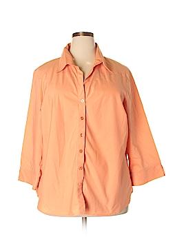 Carolina Colours Long Sleeve Button-Down Shirt Size 24 (Plus)