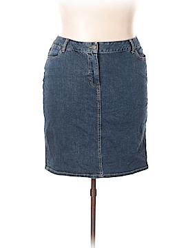 Talbots Denim Skirt Size 16W Petite (Petite)