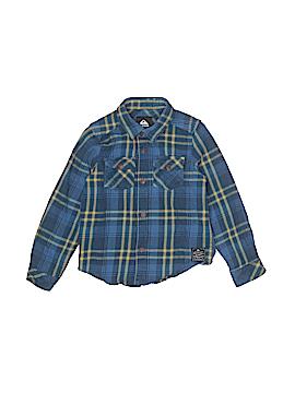 Quiksilver Long Sleeve Button-Down Shirt Size 6