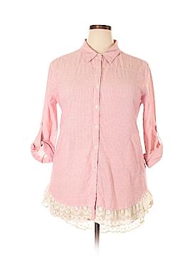 Umgee Long Sleeve Button-Down Shirt Size 1X (Plus)
