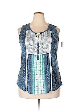 Style&Co Sleeveless Henley Size 2X (Plus)