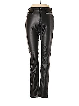 H&M Faux Leather Pants 24 Waist