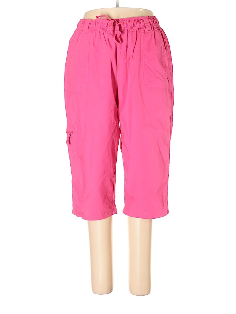 c020cad60a67e JMS Collection 100% Cotton Solid Pink Cargo Pants Size 1X (Plus ...