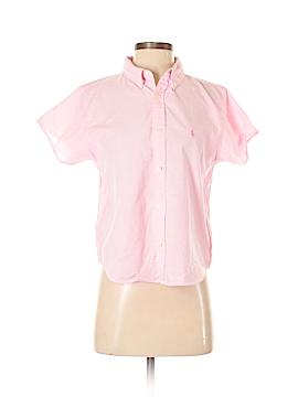 Ralph Lauren Blue Label Short Sleeve Button-Down Shirt Size S