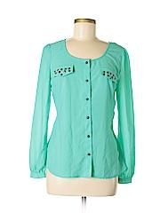 Blu Pepper Women Long Sleeve Blouse Size M