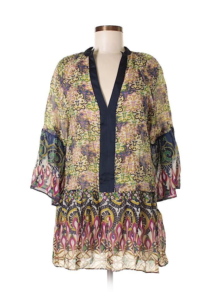 fa551c19 Zara 100% Polyester Print Light Green 3/4 Sleeve Blouse Size XS - 73 ...