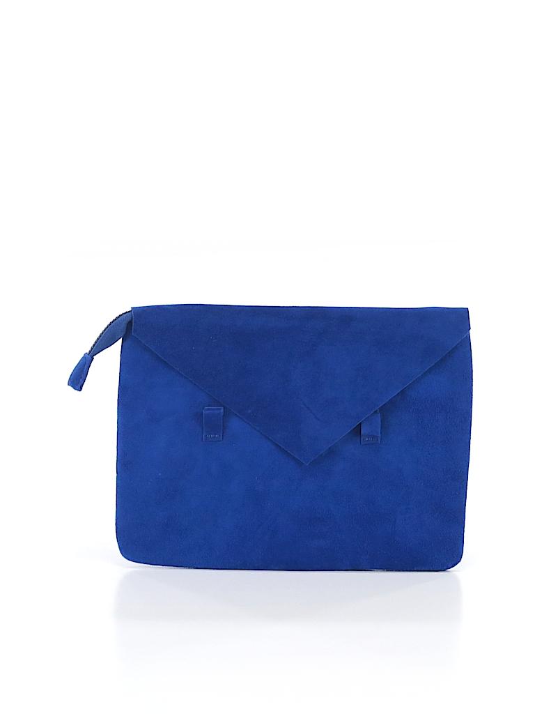 72b6998fbf87 Salvador Bachiller Solid Dark Blue Clutch One Size - 80% off