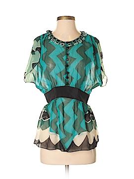 Anna Sui Short Sleeve Silk Top Size 2