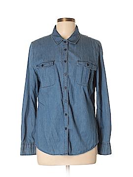 Lucy & Laurel Long Sleeve Button-Down Shirt Size L