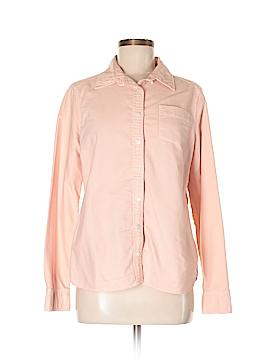 Lands' End Canvas Long Sleeve Button-Down Shirt Size M