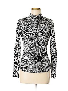 Jones New York Signature Long Sleeve Button-Down Shirt Size S