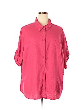 JMS Collection Short Sleeve Button-Down Shirt Size 4X (Plus)