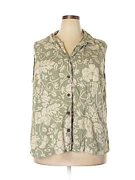 Croft & Barrow Sleeveless Button-Down Shirt Size 3X (Plus)