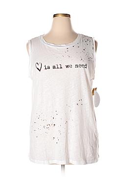 RACHEL Rachel Roy Sleeveless T-Shirt Size 1X (Plus)