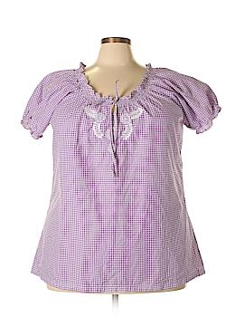 Bit & Bridle Short Sleeve Blouse Size 2X (Plus)