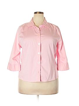 Cj Banks 3/4 Sleeve Button-Down Shirt Size 1X (Plus)