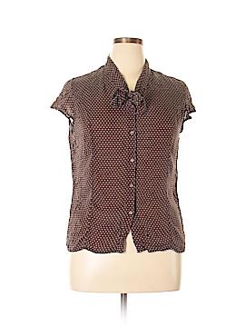 Merona Short Sleeve Silk Top Size XL