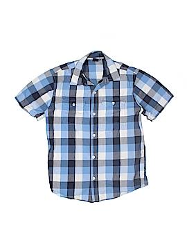 Gap Kids Short Sleeve Button-Down Shirt Size 10