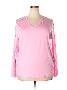 Hue Long Sleeve T-Shirt Size 1X (Plus)